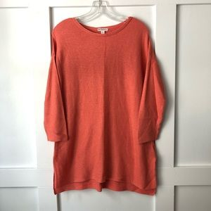 Merona Coral Ribbed Knit Boat Neck Tunic Sweater